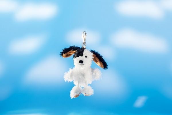Schaffer 0214 Schlüsselanhänger Hund Flecki Plüsch ca 12cm