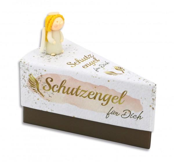 Geschenkschachtel Tortenstück - Schutzengel für Dich 8156