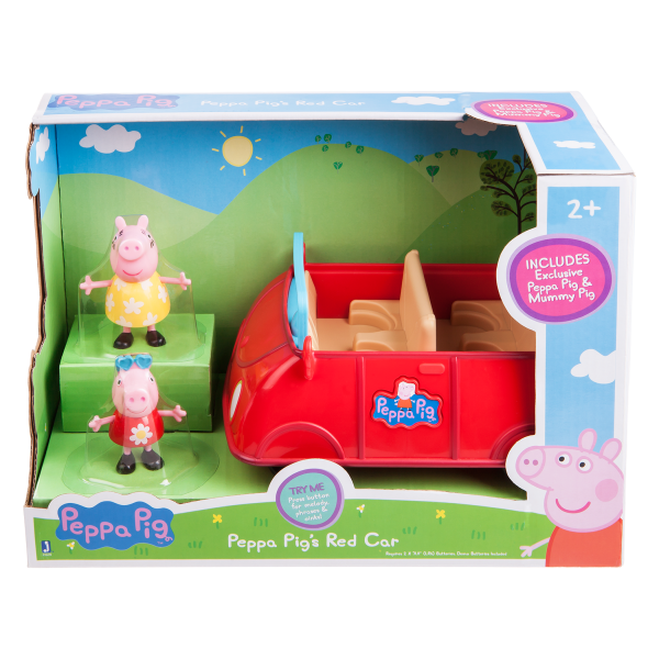 Peppa Pig Peppa's großes rotes Auto + 2 Spielfiguren Jazwares PEP0499