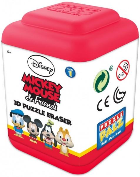 Disney Classic 3D Puzzle Radiergummi 8 verschiedene Motive zum Zusammenbauen
