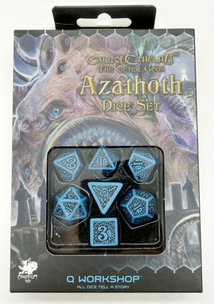 Call of Cthulhu The outer Gods Azathoth Rollenspielwürfel Blau&Schwarz (7 Stück)