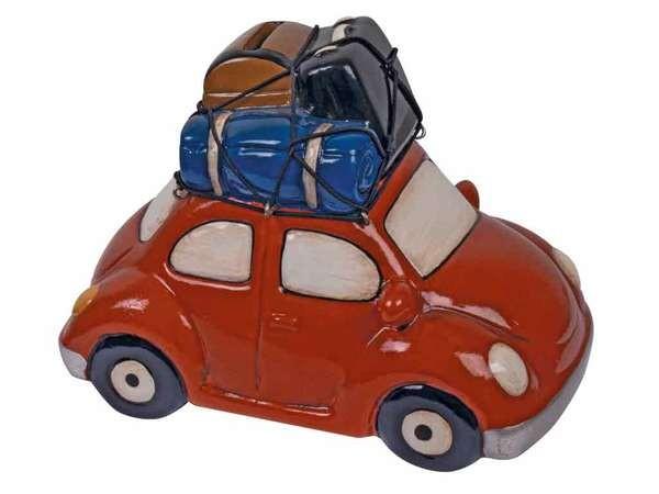 bb Klostermann Keramikspardose mit Gummiverschluss 20703 rotes Auto mit Dachkoffer
