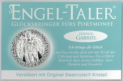Berk Esoterik Engeltaler versilbert mit EngelBotschaft - Erzengel Gabriel