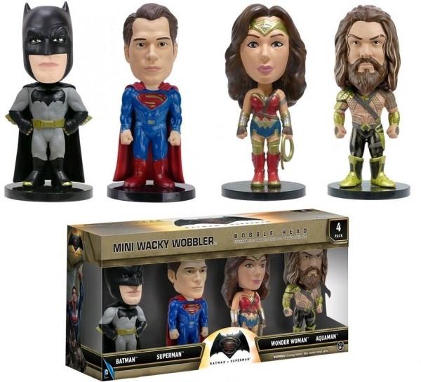 Mini Wacky Wobbler DC Batman Vs Superman 4er-Set Bobble Head Sammelfiguren