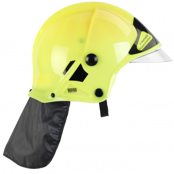 Feuerwehrhelm mit beweglichem Visier und Nackenschutz - Leuchtet im Dunkeln 8903