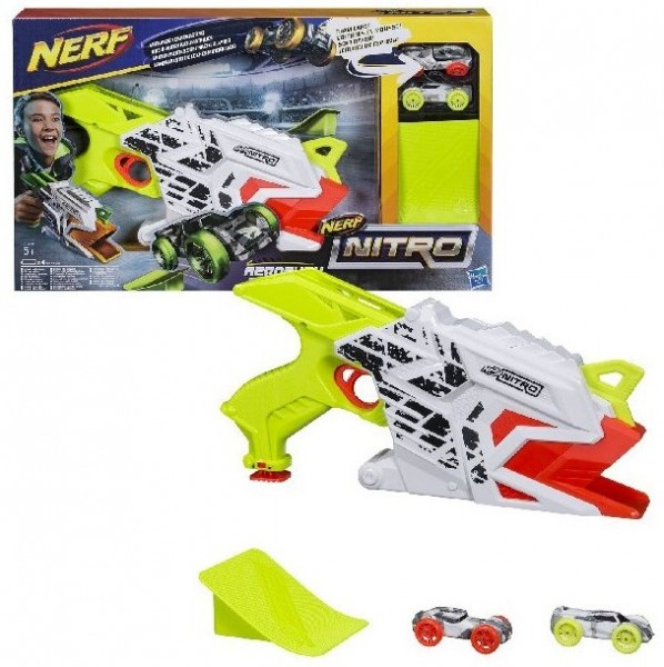 NERF Nitro Aeroflux Ramp Rage Spielset Motorisierter Soft Blaster E0408