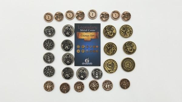 Legendary Metal Coin Set Creature - Metall Münzen Kreaturen (30 Stück)