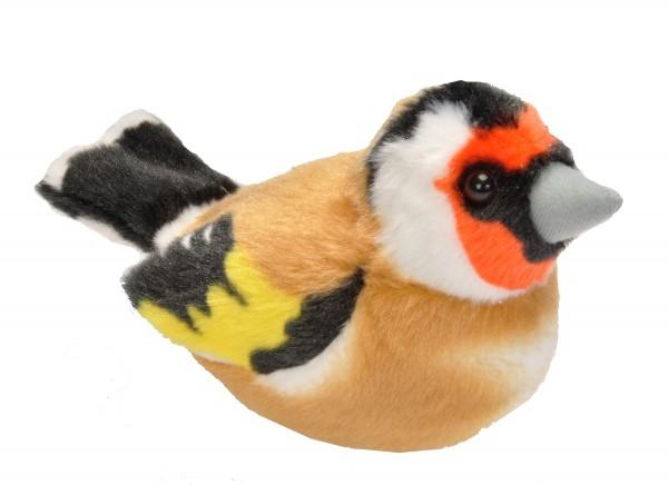 Stieglitz / europ. Goldfinch mit naturgetreuem Ton ca 16cm Plüsch Wild Republic 19486