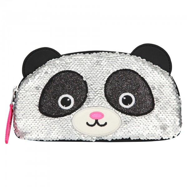 Depesche 10927 Snukis Kosmetiktasche Schlamper Panda mit StreichPailletten