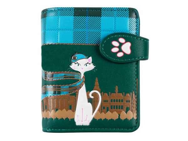 bb Klostermann Geldbeutel Geldbörse 51191 Katze mit Schal blau