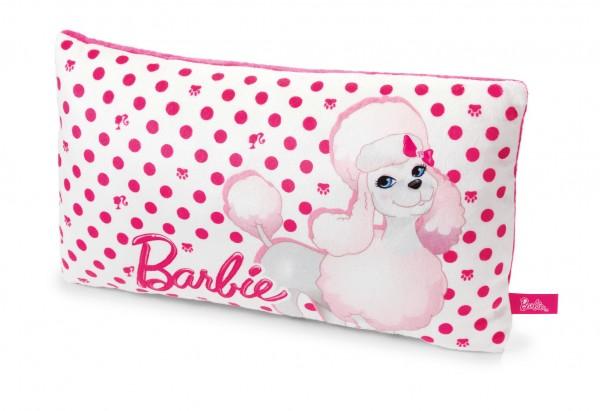 Nici 33988 Kissen Barbie Pudel Sequin weiß-rosa rechteckig 43x25cm Plüsch