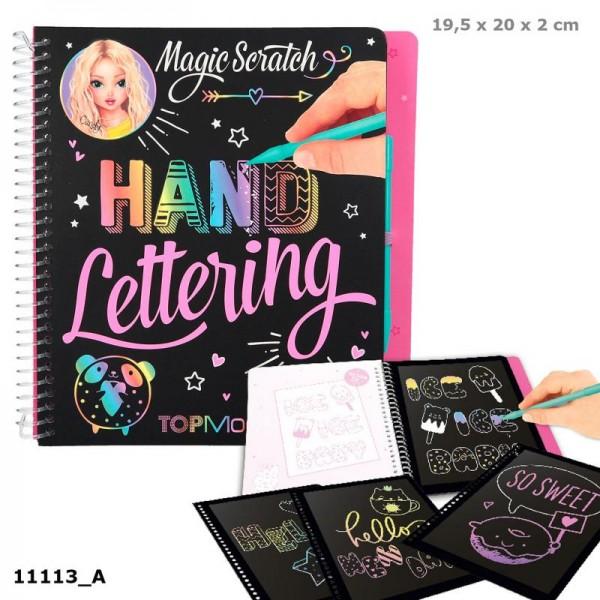 Depesche 11113 TOPModel Magic Scratch Book Hand Lettering Schönschrift Kratzbuch