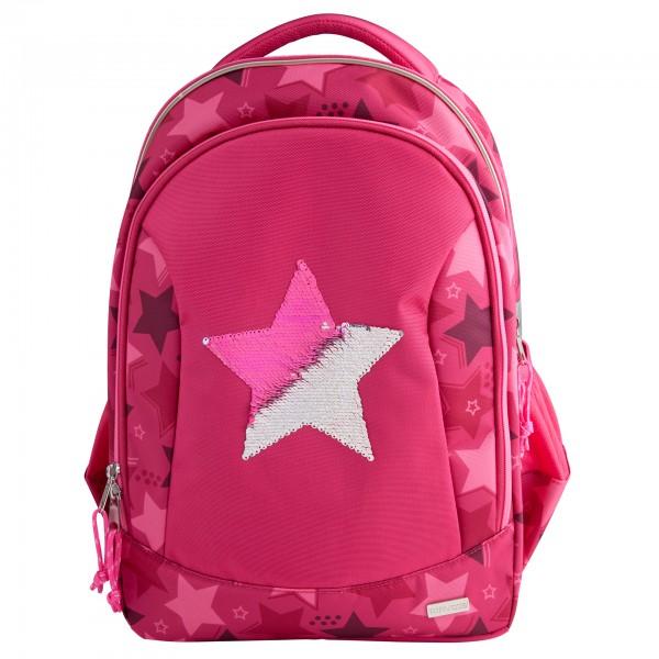 Depesche 10722 TOPModel Schulrucksack Streichpailletten Stern pink