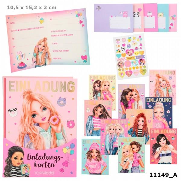 Depesche 11149 TOPModel Einladungskarten Set 10 Karten +Umschläge +Sticker