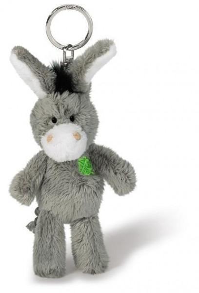 Nici 37688 Schlüsselanhänger Esel mit Kleeblatt Plüsch Keyholder