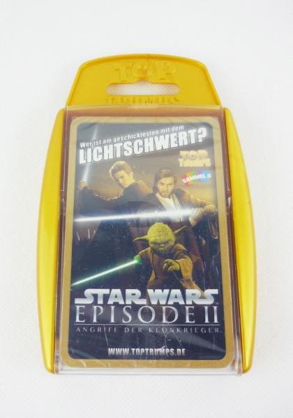 Star Wars Episode 2 Angriff der Klonkrieger Top Trumps Kartenspiel
