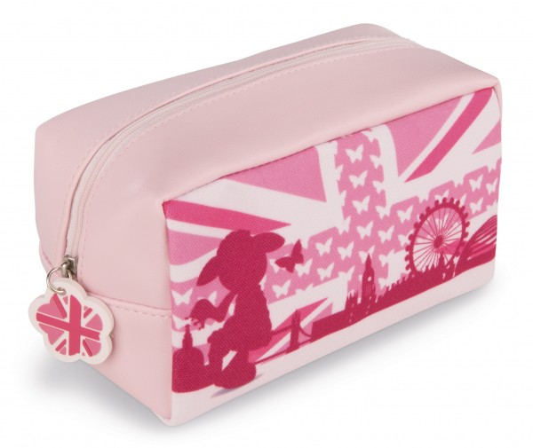 Nici 42815 Kosmetiktasche Schaf Jolly Journey in London rosa ca 18x10cm