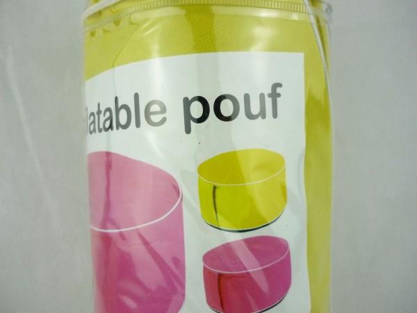 inflatable Pouf aufblasbarer Puff Beitisch Hocker 56 x 25 cm gelb