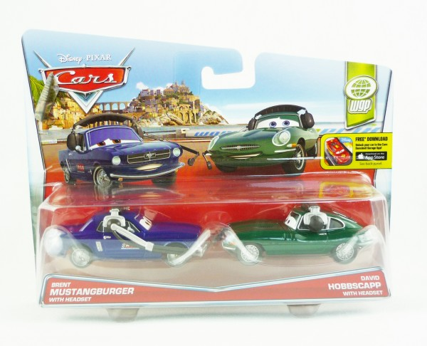 Disney Cars Die Cast 2er-Set Brent Mustangburger & David Hobbscapp DHL13
