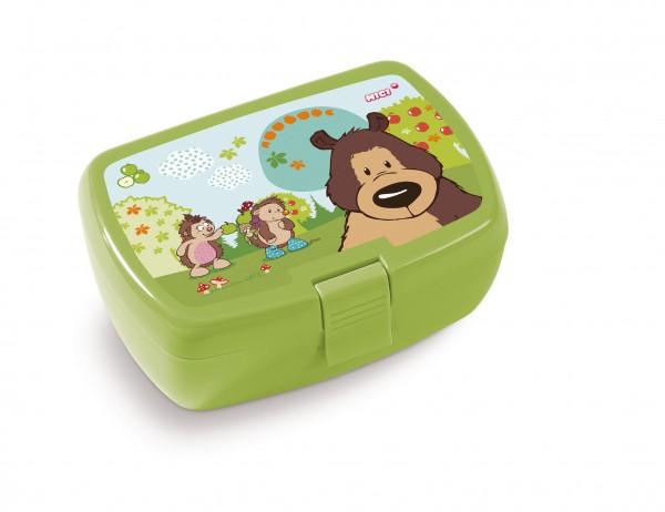 Nici 42957 Brotdose Lunchbox Bär und Igel Forest Friends 17x12x6,8cm