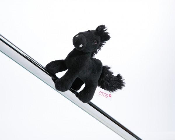Nici 44894 MagNICI schwarzes Pferd Black Cassis stehend ca 12cm Plüsch Magnetfigur