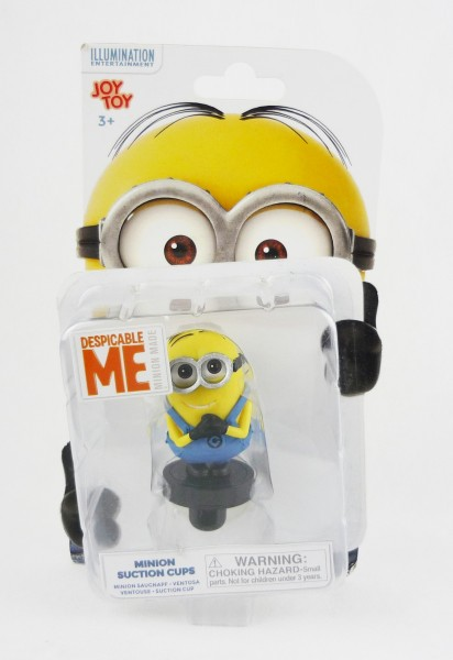 Joy Toy 90227 Minions Minion Saugnapf-Figur Dave grinsend ca 8cm