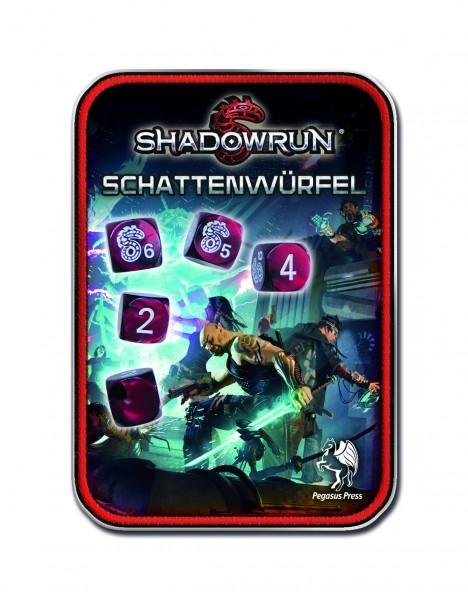 Rollenspielwürfel Würfelset Schattenwürfel Shadowrun rot 134101 - neue Version