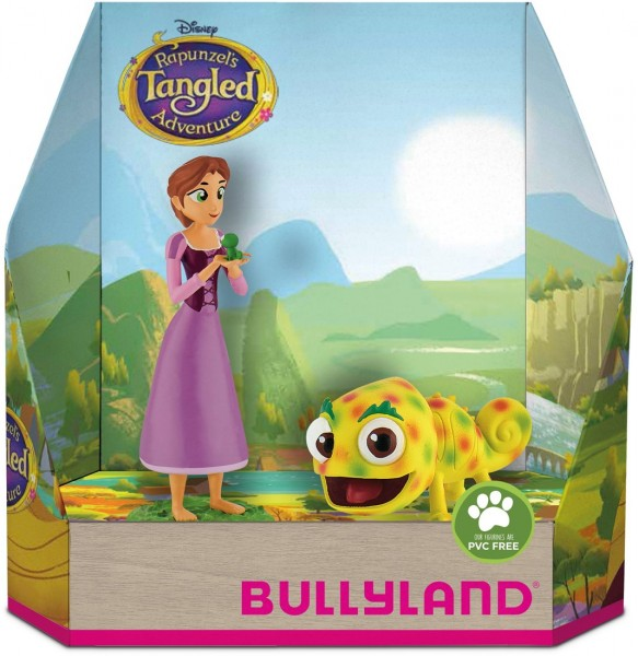 Bullyland 13462 Tangled Rapunzel und Pascal gepunktet Spielset Figurenset