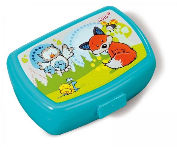 Nici 39638 Brotdose Lunchbox Eule Olalia & Fuchs Finolin 17x12x6,8cm
