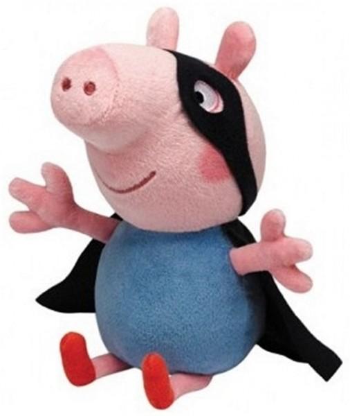 TY 96282 Peppa Pig Wutz Schwein George Schorsch Superheld ca 25cm Plüsch Kuscheltier