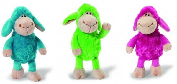 3x Nici Schaf Jolly Mäh bunte Familie blau-grün-pink ca 20cm Plüsch