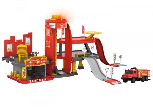 Märklin 72219 Feuerwehr-Station für H0 mit Licht und Sound inkl. Feuerwehr-Truck
