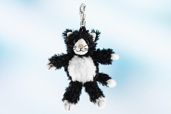 Schaffer 0217 Schlüsselanhänger schwarze Katze Blacky ca 12cm Plüsch