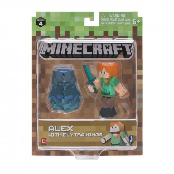Minecraft Figur Spielset Alex mit Elytren Flügeln Jazwares 16492