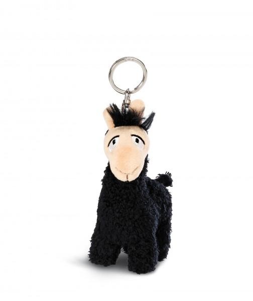 Nici 43570 Schlüsselanhänger schwarzes Lama Lorenzo ca 10cm Plüsch