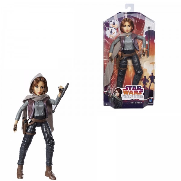 Star Wars Forces of Destiny Puppe Jyn Erso Hasbro C1624ES00