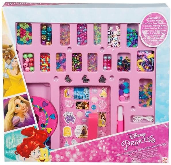 Disney Princess 6 in 1 Kreativset Wunderbare Schmuckherstellung Armbänder