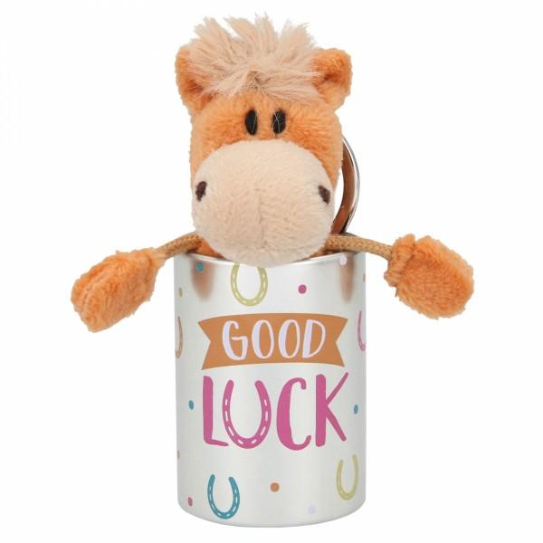 Depesche 8110 Pferd Miss Melody Plüsch-Anhänger im Döschen - Good Luck