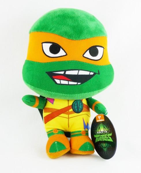 Rise of the Teenage Mutant Ninja Turtles TMNT Plüsch ca 28cm Michelangelo Orange