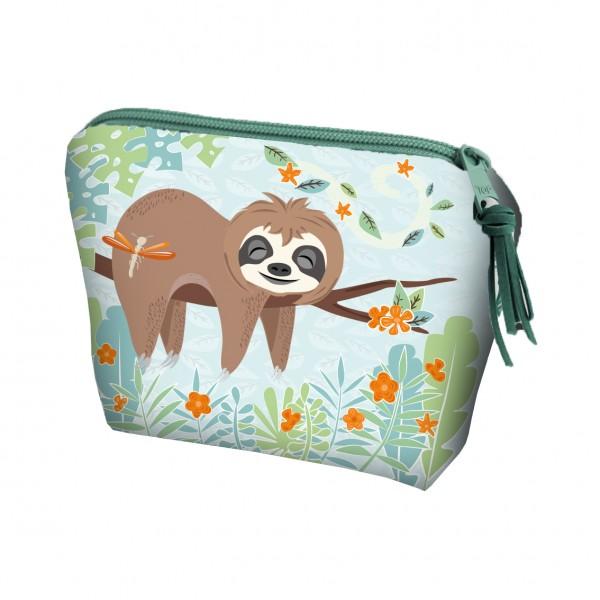 p:os 30609 Kosmetiktasche Kulturbeutel mit Hangtag - Faultier Sloth