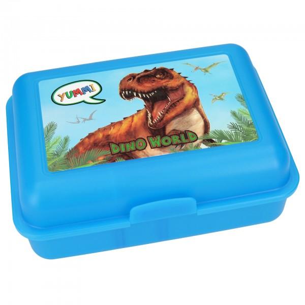 Depesche 8788 Dino World Brotdose blau Dinosaurier Lunchbox