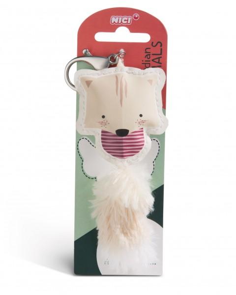 Nici 45580 Guardian Animals Katze beige 12cm Taschenanhänger Kunstleder