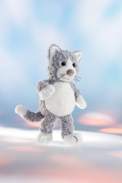 """Schaffer 5451 Katze """"Silver"""" grau ca 21cm Plüsch Kuscheltier Schlenker"""