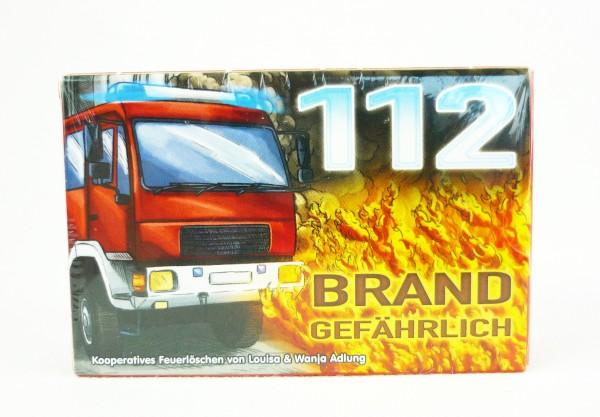 112 Brandgefährlich kooperatives Kartenspiel FFW Feuerwehr Feuerlöschen
