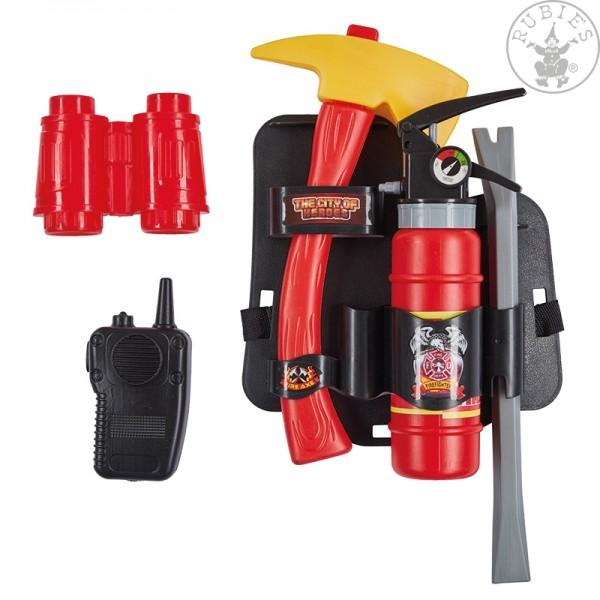 Rubies 6300973 Verkleidungs-Set FFW Feuerwehr Set 5-teillig