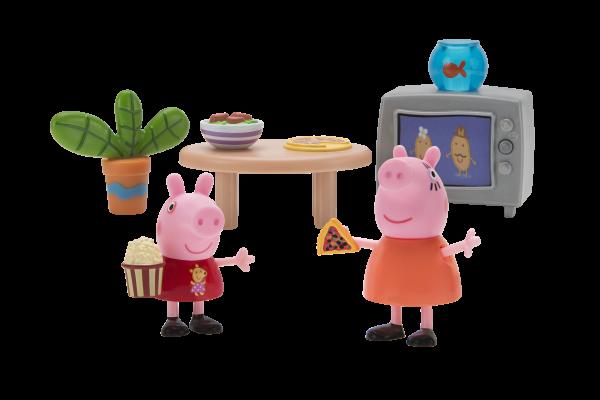 Peppa Pig Spielset Filmabend mit Mama Wutz Jazwares 97002