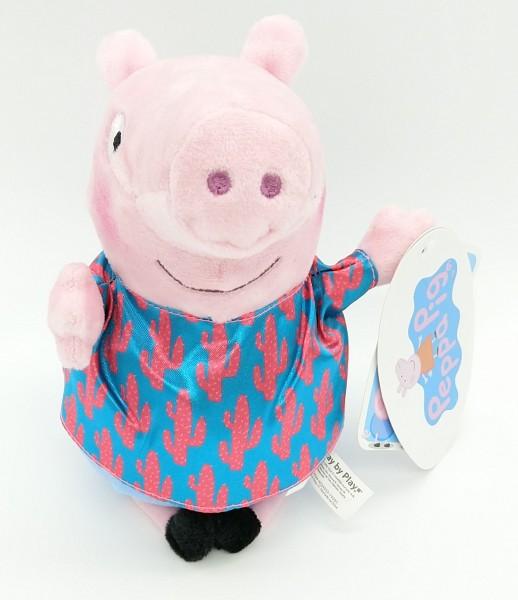 Peppa Pig Peppa Wutz Plüsch Kuscheltier ca 20cm - George mit Kaktus Hemd