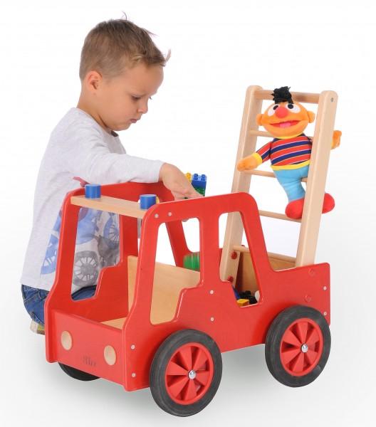 Bätz Holzspielwaren 180207 Feuerwehrauto aus Holz 50x35x54cm