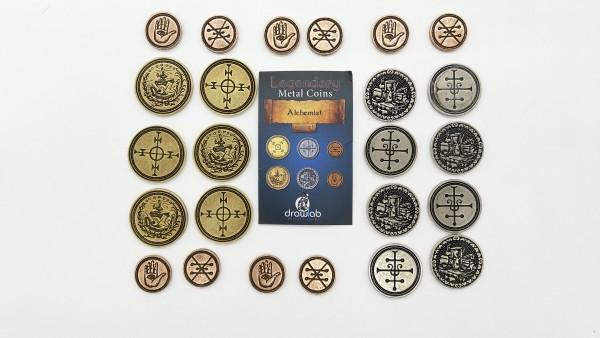Legendary Metal Coin Set Alchemist - Metall Münzen Alchemist (24 Stück)