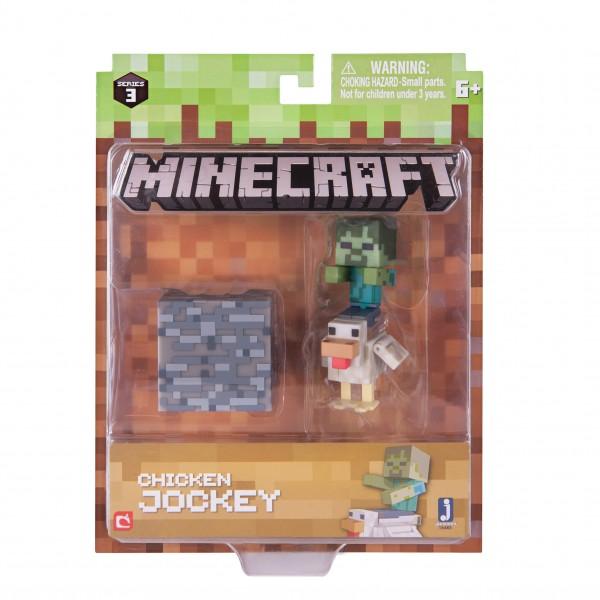 Minecraft Figur Spielset Hühnerreiter mit Accessoire Jazwares 16485